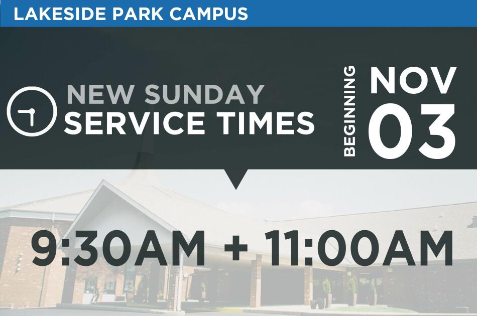 Lakeside Park Service Time Change