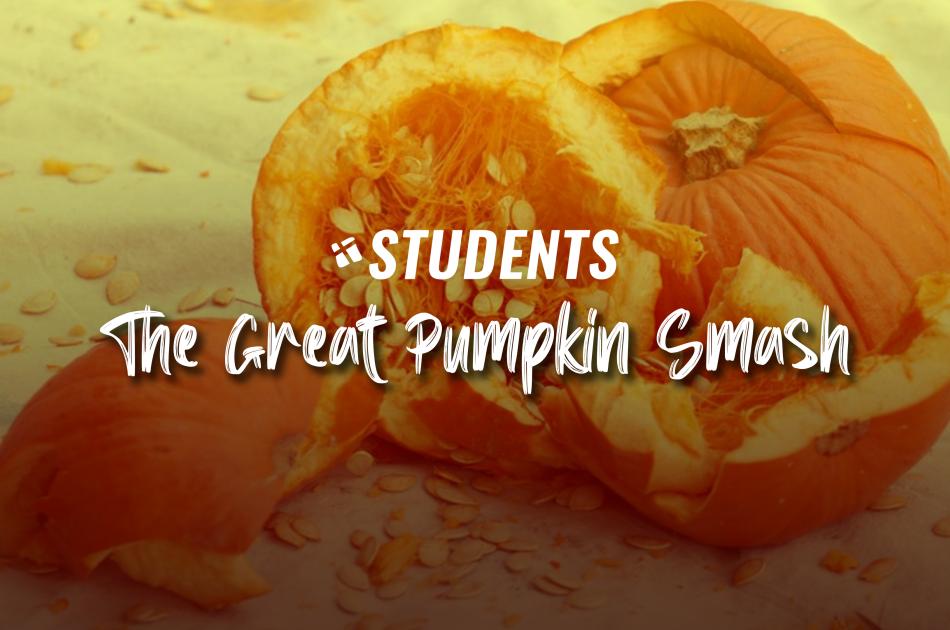 Hebron Students Pumpkin Smash